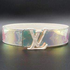 White Prism 40mm Lv Logo Initials Size 85 34 Belt